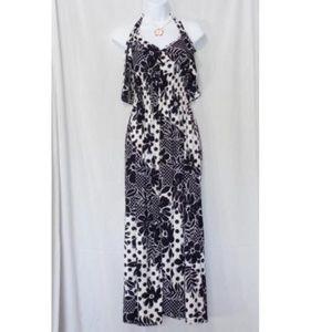 Dresses & Skirts - HAWAII BLUE FLOWER PRINT FULL LENGTH SUNDRESS 2XL